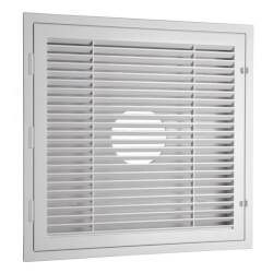 Louver Lay-In Return Grille w/ Bulls-Eye Back (2' x 2') Product Image