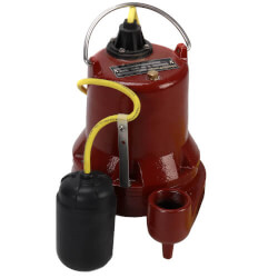 4/10HP Model HT41M High Temp Man. Submersible Sump Pump (10' Cord) Product Image