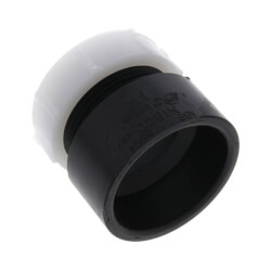 "1-1/4"" Hub x Slip Joint ABS DWV Trap Adapter Product Image"