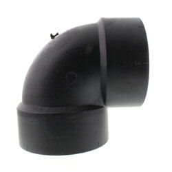 "3"" Hub ABS DWV 90° Vent Elbow Product Image"