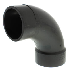 "3"" Spigot x Hub ABS DWV 90° Long Turn Street Elbow Product Image"