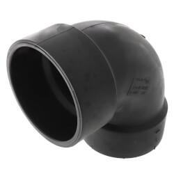 "3"" Hub x FIPT ABS DWV 90° Elbow Product Image"