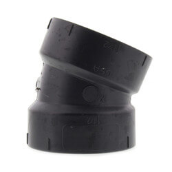 "1-1/2"" Hub ABS DWV 22-1/2° Elbow Product Image"