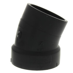 "2"" Spigot x Hub ABS 22-1/2° Street Elbow Product Image"