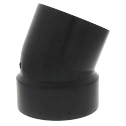 "4"" Spigot x Hub ABS 22-1/2° Street Elbow Product Image"