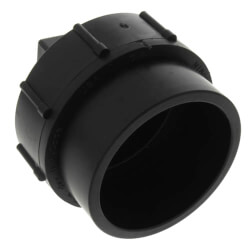 "1-1/2"" Spigot x Cleanout w/ Plug ABS DWV Cleanout Adapter Product Image"