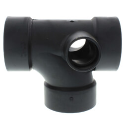 "3"" x 3"" x 3"" x 1-1/2"" x 1-1/2"" Hub ABS Sanitary Tee w/ 90° Right & Left Inlets (5870R) Product Image"