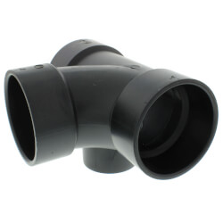 "3"" x 3"" x 3"" x 1-1/2""<br>Hub ABS Sanitary Tee<br>with 90° Left Inlet (5871) Product Image"