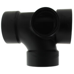 "3"" x 3"" x 3"" x 2"" Hub<br>ABS Sanitary Tee with<br>90° Left Inlet (5871) Product Image"