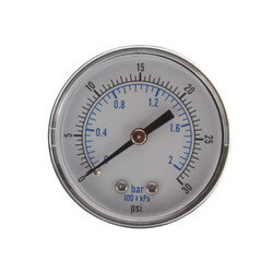 "1/8"" NPT, 2"" Dial Pressure Gauge (0-30 PSI) Product Image"
