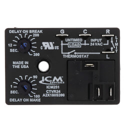 ICM251 Fan Blower Control - Dual On/Off Delay Timer (Adj. Time Delay) Product Image