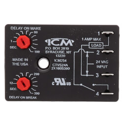 ICM254 Fan Blower Control - Dual On/Off Delay Timer (Adj. Time Delay) Product Image