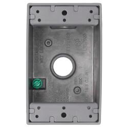 "1-Gang, 1/2"", 3 Holes Universal Weatherproof Box w/ Mounting Lugs (Silver) Product Image"