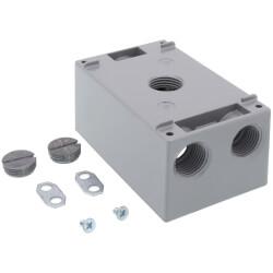 "1-Gang, 1/2"", 4 Holes Universal Weatherproof Box w/ Mounting Lugs (Silver) Product Image"