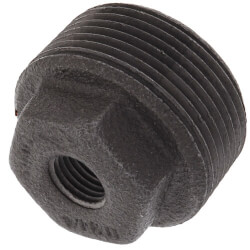 "1-1/4"" x 3/8"" Black Bushing w/ Inside Head Product Image"
