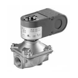 """3/8"""" Threaded 2-Way NC Low Pressure Direct Acting Gas Shutoff Valve (24V) Product Image"""