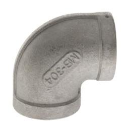 """T304 1/2"""" Stainless Steel 90° Elbow Product Image"""