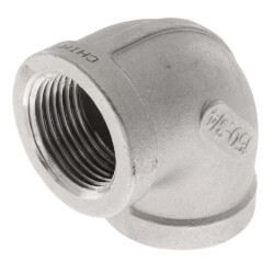 "T304 3/4"" Stainless Steel 90° Elbow Product Image"
