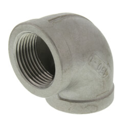 "T304 1"" Stainless Steel 90° Elbow Product Image"