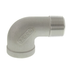"T304 3/4"" Stainless Steel 90° Street Elbow Product Image"