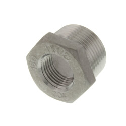 "T304 1"" x 1/2"" Stainless Steel Hex Bushing Product Image"