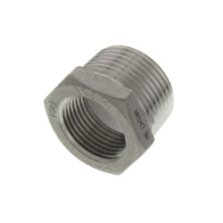 "T304 1"" x 3/4"" Stainless Steel Hex Bushing Product Image"