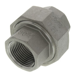 """T304 3/4"""" Stainless Steel Union Product Image"""