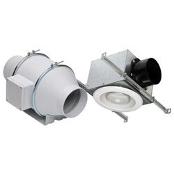 TD100X1 Standard Lighted Exhaust Kit w/ Fluorescent Bulb (Single Vent) Product Image