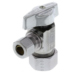 "5/8"" OD Compr x 3/8"" OD Compr. 1/4 Turn Angle Ball Stop, Lead Free (Chrome) Product Image"