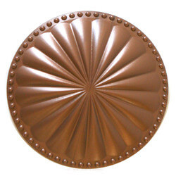 """6"""" Laguna Flat Cleanout Cover (Newport Copper) Product Image"""