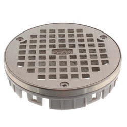 "5"" Round Nickel Bronze Floor Drain Grate Product Image"