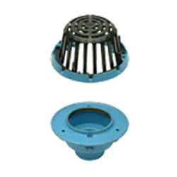 "4"" x 8-3/8"" Diameter No<br>Hub Cast Iron Small Area Roof Drain Product Image"