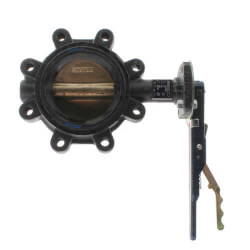 """4"""" Lug Cast Iron Butterfly Valve, EPDM, Lever Handle (200 PSI) Product Image"""