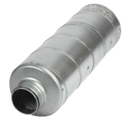 "Galvanized Steel Silencer for 4"" Duct Product Image"