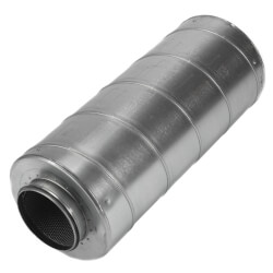 "Galvanized Steel Silencer for 6"" Duct Product Image"