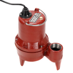 "4/10 HP Man. Submersible Sewage Pump - 115V<br>10' Cord, 2"" Discharge Product Image"