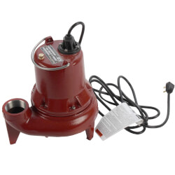 """1/2 HP Man. Submersible Sewage Pump - 115V<br>10' Cord - 2"""" Discharge Product Image"""