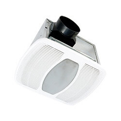 "LEDAK80 Deluxe Quiet Energy Star Fan/Light 4"" w/ 6 Watt LED Lamp (80 CFM) Product Image"