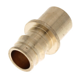 "3/4"" ProPEX Copper Fitting Adapter (Lead Free Brass) Product Image"