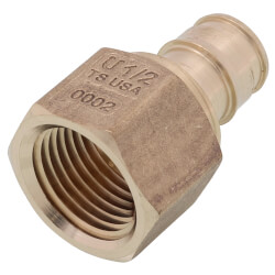 "1/2"" ProPEX x 1/2"" NPT Female Adapter (Lead Free Brass) Product Image"