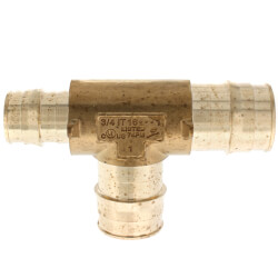 """1"""" x 3/4"""" x 1"""" ProPEX Reducing Tee (Lead Free Brass) Product Image"""