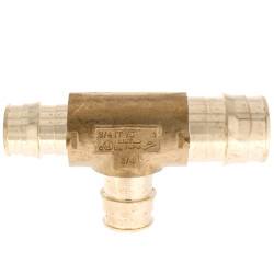 """1"""" x 3/4"""" x 3/4"""" ProPEX Reducing Tee (Lead Free Brass) Product Image"""