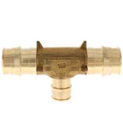 """3/4"""" x 3/4"""" x 1/2"""" ProPEX Reducing Tee (Lead Free Brass) Product Image"""