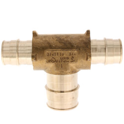"""3/4"""" x 3/4"""" x 1"""" ProPEX Reducing Tee (Lead Free Brass) Product Image"""