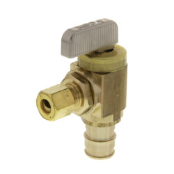"1/2"" x 1/4"" ProPEX Brass Ice Maker Box Valve, Angle (Lead Free Brass) Product Image"