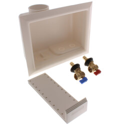 "1/2"" ProPEX ProPEX Washing Machine Outlet Box w/ Valves (Lead Free) Product Image"