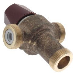 "1/2"" FNPT Union HydroGuard Thermostatic Tempering Valve (60°- 120°F) Product Image"