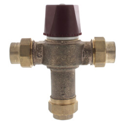 "1/2"" FNPT Union HydroGuard Thermostatic Tempering Valve (90°- 160°F) Product Image"