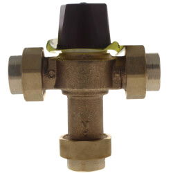 "3/4"" FNPT Union HydroGuard Thermostatic Tempering Valve (90°- 160°F) Product Image"