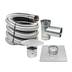 "30' x 6"" Stainless Steel Single Wall Chimney Lining Kit Product Image"